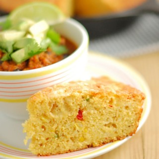 Skillet Cornbread with Jalapenos
