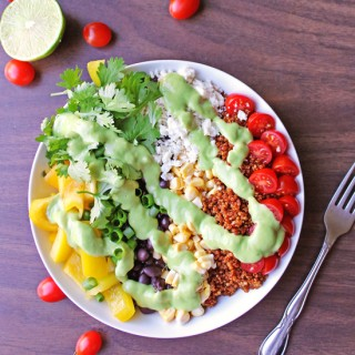 Southwest quinoa salad with green chile dressing