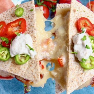 Vegan Stretchy Melty Cheese Quesadillas