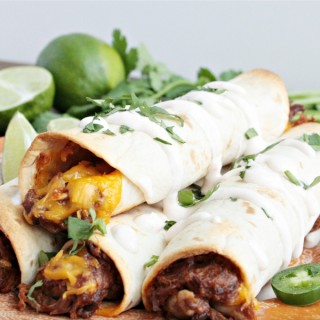 Slow Cooker Beef Taquitos