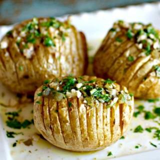Chimichurri Hasselback Potatoes