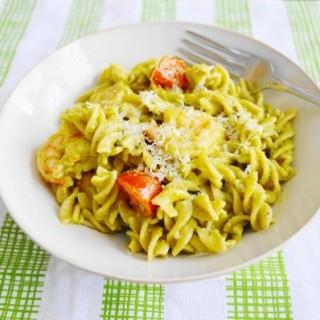 Chili Lime Shrimp Pesto Pasta