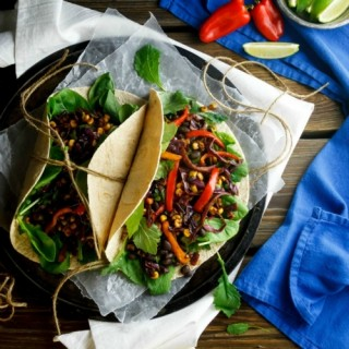 Spiced Black Bean Tacos with Corn and Cabbage