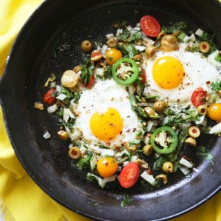 Easy Eggs and Veggies with Jalapeños