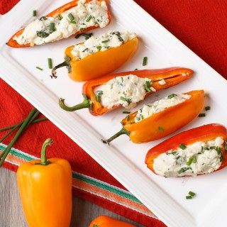 Grilled-Peppers-with-Goat-Cheeese