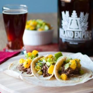 Short Rib Tacos w/ Beer BBQ Sauce