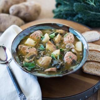 Spicy Potato Soup w/ Kale & Sausage