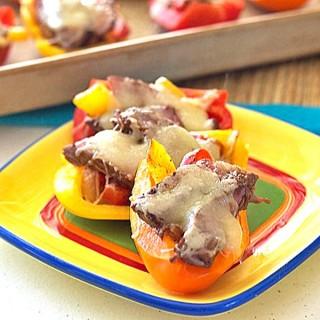 Steak Fajita Bell Pepper Sliders