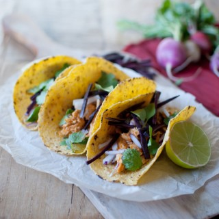 Thai Red Curry Chicken Tacos