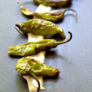 Grilled Shishito Peppers w/Tahini