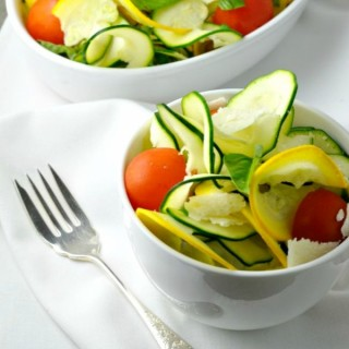 Zucchini Basil and Parmesan Salad