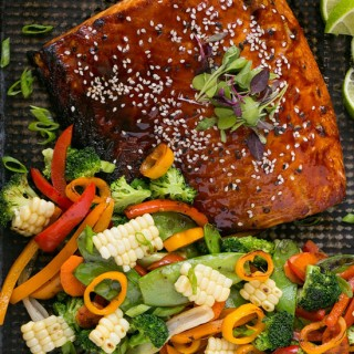 Hoisin Lime Glazed Salmon