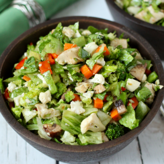 Asian chicken chopped salad