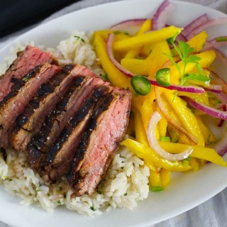 Seared Flank Steak with Mango Slaw