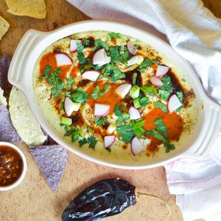 Queso Fundido with Red-Chile Vinaigrette