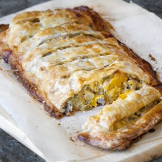 Hatch Chile, Veggie & Goat Cheese Jalousie