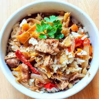 Slow Cooker Sweet Chicken & Peppers