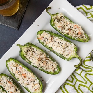 Shrimp and Goat Cheese Jalapeno Poppers