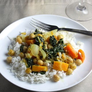 Kale and Butternut Curry
