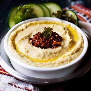 Hummus with Chipotle Pepper Topping