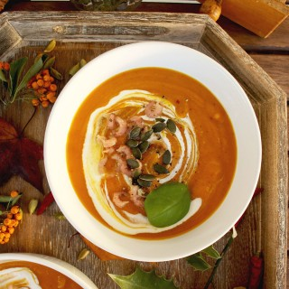 Spicy Pumpkin Soup with Secret Spice Mix