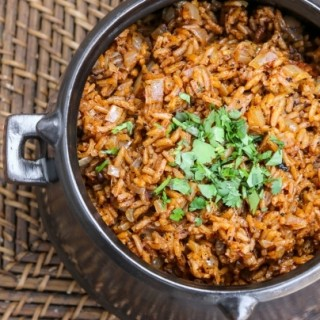charred ancho mexican red rice