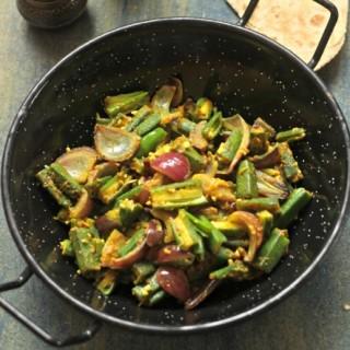 Okra And Onions Stir Fry