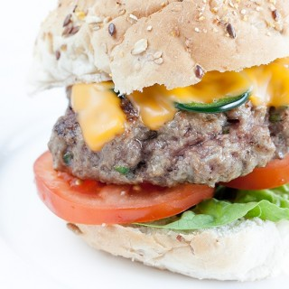Spicy Jalapeño cheddar burger