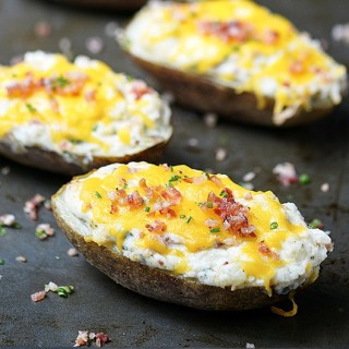 Jalapeño Popper Twice Baked Potatoes
