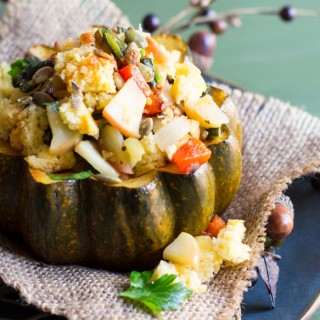 SPICED ACORN SQUASH WITH CHARRED POBLANO PEPPER –