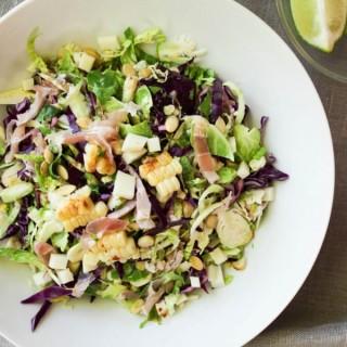 Brussels & Pancetta Salad w/ Chili Vinaigrette