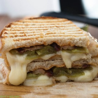 Hatch Chile & Bacon Grilled Cheese Sandwich