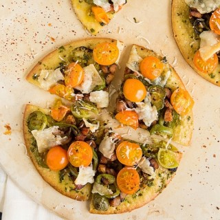 Mini Pizzas with Smoked Ham and Jalapenos
