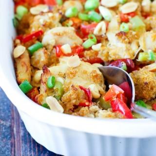Kung Pao Chicken Casserole