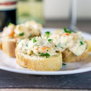 Shrimp & Crab Crostini Appetizer