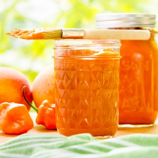Habanero Peach Barbecue Sauce