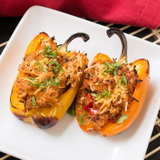 Chicken Taco Stuffed Peppers