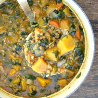 Spicy Butternut Squash Lentil Stew
