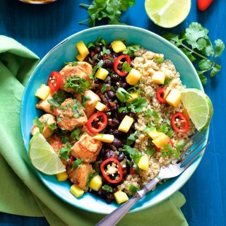 Cuban Chicken and Black Bean – Quinoa Bowls