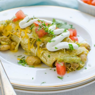 Pork Chile White Bean Enchiladas